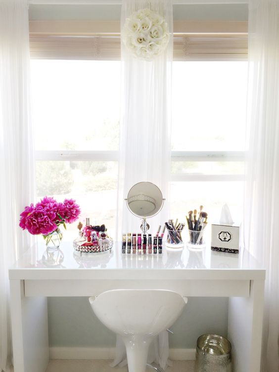 IKEA Malm dressing table I use this as my makeup vanity.:
