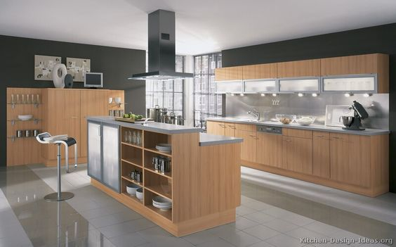 Modern light wood kitchen cabinets 17 kitchen for Alno kitchen cabinets