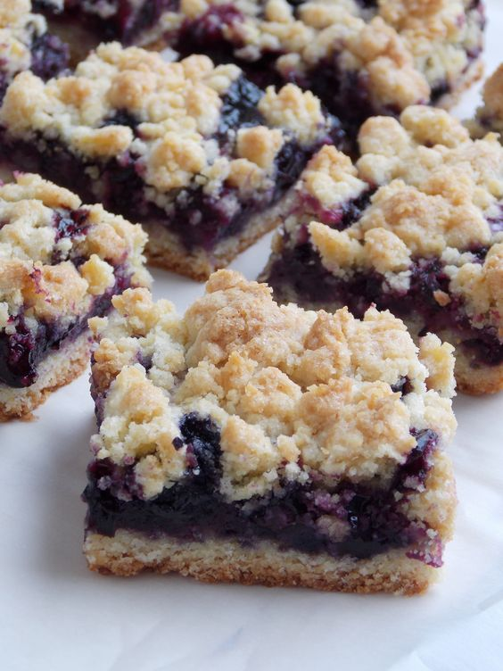 Blueberry Crumb Bars-easy and all things I keep on hand!