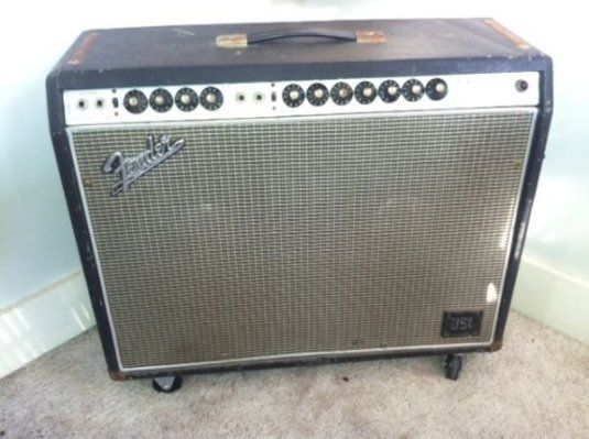 This pic is similar to my old '70s Silverface Fender Twin. Amazing clean sounds but VERY loud. Mine was loaded with orange JBL speakers which were great.