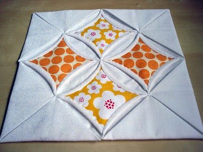 Cathedral window patchwork - excellent tutorial