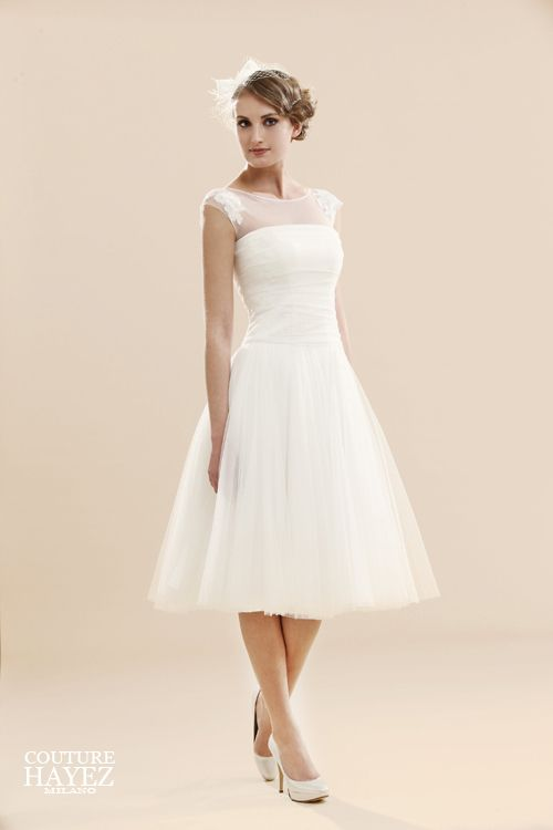 short tulle wedding gown Mod. Charlotte