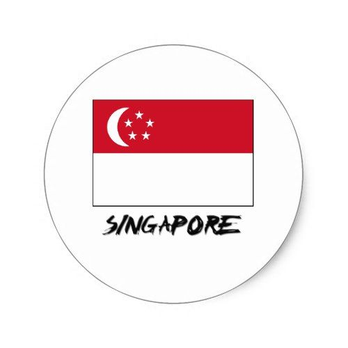 Singapore Flag Classic Round Sticker Zazzle Com Singapore Flag Flag Design Round Stickers