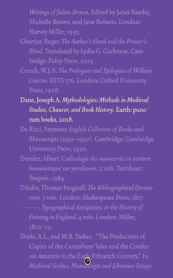 Mythodologies: Methods in Medieval Studies, Chaucer, and Book History - Búsqueda de Google