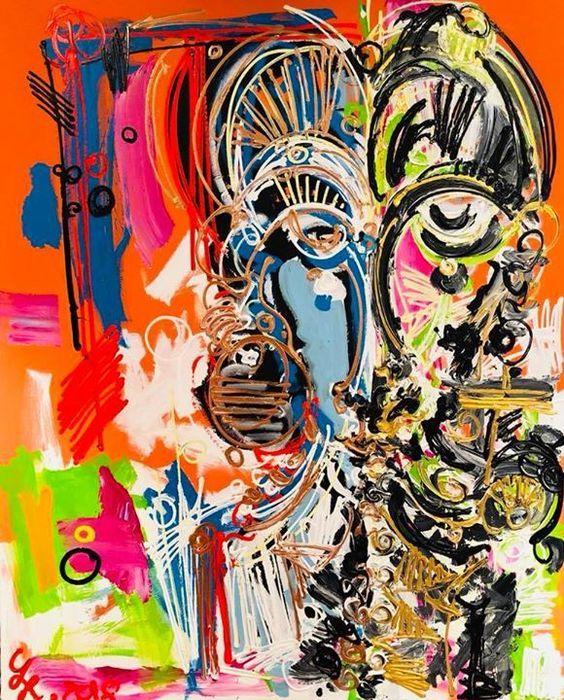 leon lowentraut geb 1998 deutscher maler kunstproduktion idee farbe acrylmalerei abstrakt modern künstler der modernen kunst