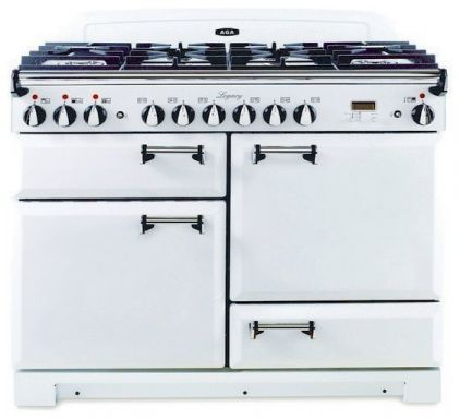 AGA Dual Fuel in Vintage White