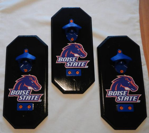 get your blue on boise state wall mount bottle opener with magnetic cap catcher by. Black Bedroom Furniture Sets. Home Design Ideas
