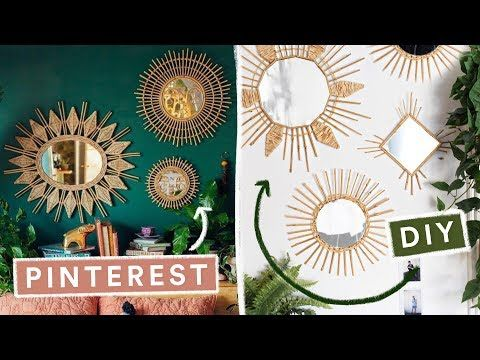 Diying Viral Pinterest Home Decor Lone Fox Youtube Bamboo Diy Bamboo Decor Easy Diy