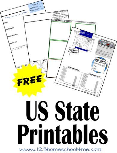 homeschool printables and us states on pinterest. Black Bedroom Furniture Sets. Home Design Ideas