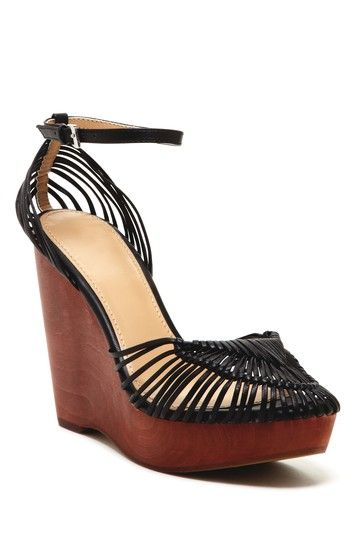 Woven Strappy Wedge