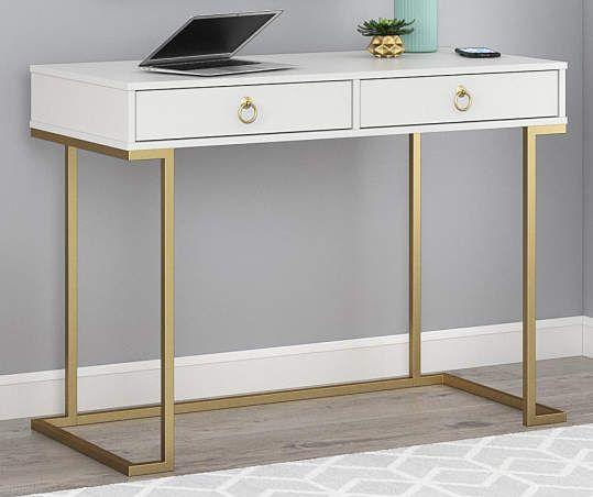 Ameriwood Celeste White Writing Desk Big Lots In 2020 White Writing Desk White Desk Bedroom White Desk Office
