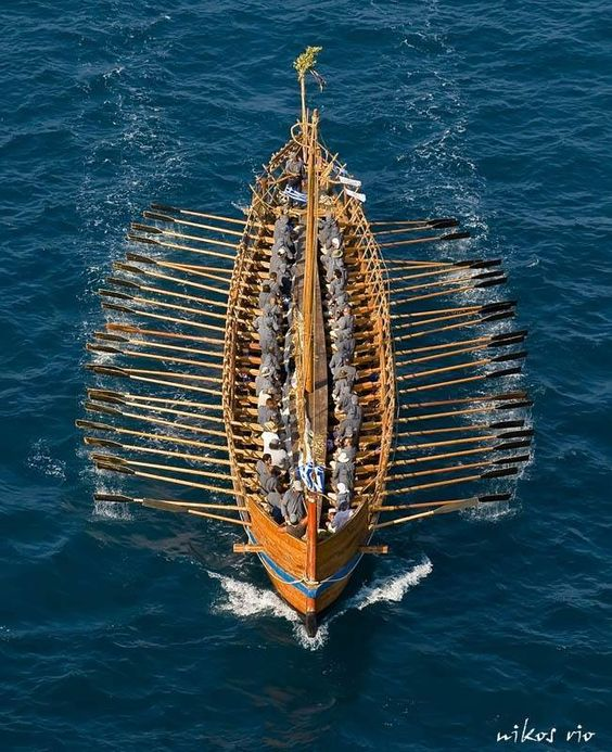 Modern reconstruction of the Argo. This replica of a Greek penteconter was completed in 2008. This vessel, with a 50-oar crew made up from all 27 European Union member countries, sailed from Jason's hometown of Volos to Venice, stopping at 23 cities en route.