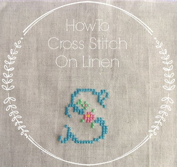 Cross stitching on linen tutorial - Sew Sweet Violet