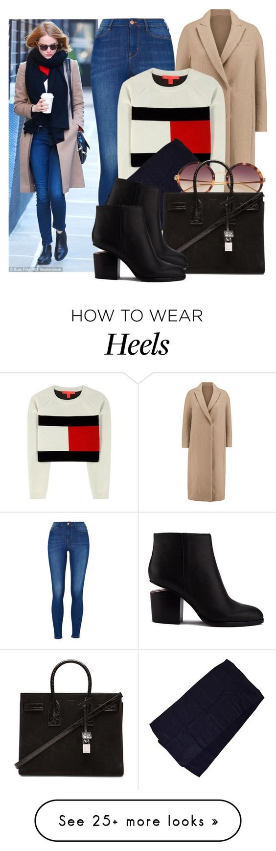 """""""Emma Stone"""" by justadream133 on Polyvore featuring mode, Brunello Cucinelli, Tommy Hilfiger, Gucci, Linda Farrow, Yves Saint Laurent, Alexander Wang, StreetStyle, EmmaStone et CelebrityStyle"""
