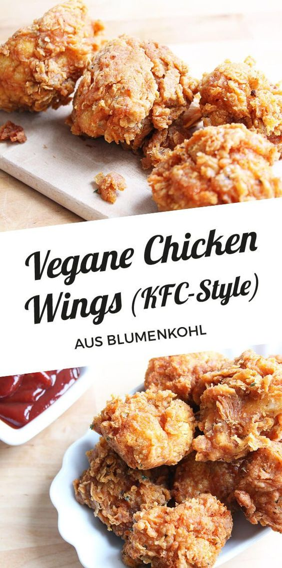Vegane Chicken Wings aus Blumenkohl (KFC Style) | Cheap And Cheerful Cooking