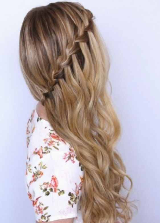 Peinados Boda Trenza De Lado De Debajo Dilatado Down Hairstyles Hair Styles Dutch Braid Hairstyles