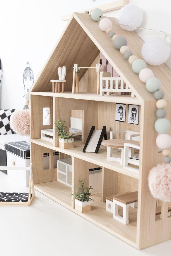 Onwijs Zelf poppenhuis maken met een bouwtekening | Houten poppenhuis WH-22