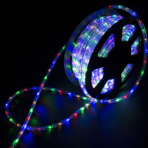 100ft 2 Wire Led Flex Rope Light Xmas Holiday Party Home Outdoor Decoration 110v Ebay Led Rope Lights Rope Light Led Rope