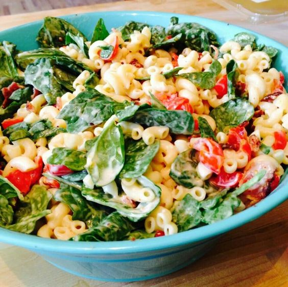 BLT Macaroni Salad - Skinnytaste