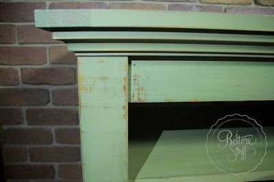 I Restore Stuff: Miss Mustard Seed's Milk Paint - Boxwood Green TV Cabinet Makeover