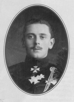 Maurice Victor Donald von Battenberg--He was the youngest grandchild of Queen Victoria and son of Beatrice. He was a hemophiliac, who died on the battlefield in the First World War. He was buried with his men at Ypres Town Cemetary at the request of his mother.