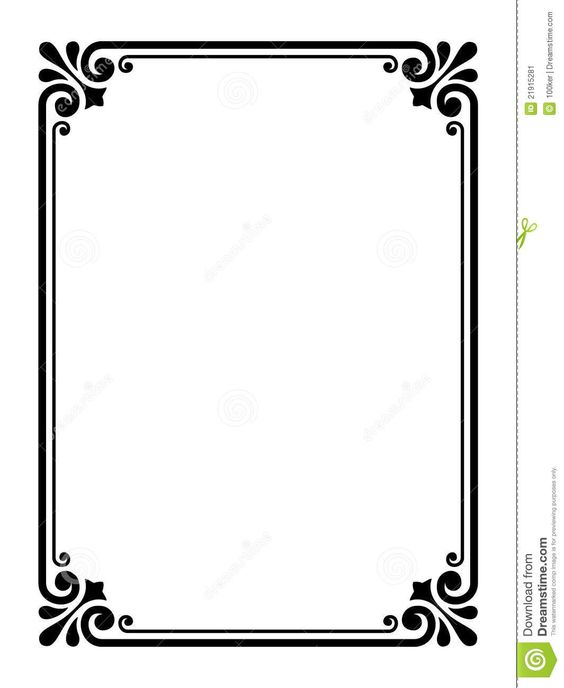 simple victorian borders and frames