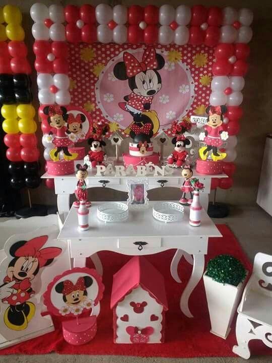 Pin De Mariela Glaser Em Cumple Festa Minnie Minnie Vermelha