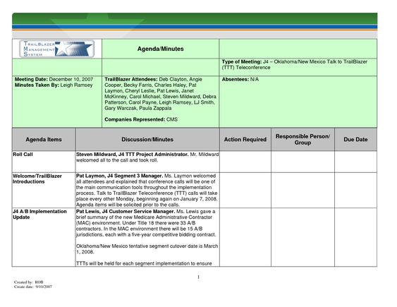 meeting minutes template Manager for Microsoft SharePoint - business meeting report template