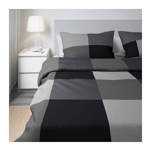 Brunkrissla Duvet Cover And Pillowcase S Black Twin Ikea Black Duvet Cover Quilt Cover Duvet Covers