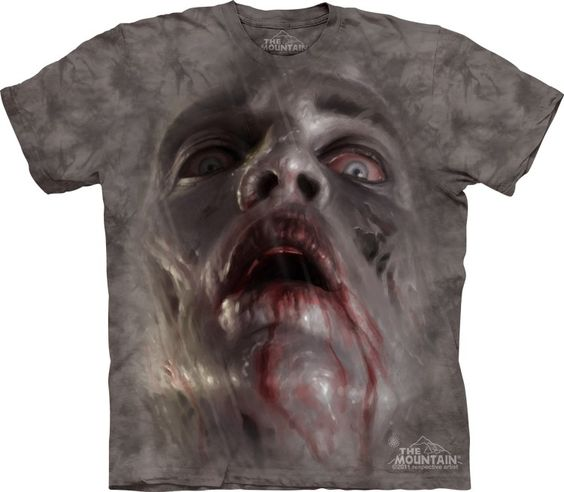 """Zombie Face Shirt - Epic-shirts.com - """"I ordered this for my son for a Christmas present and have no doubt he is going to love it. It's 100% cotton and Made in the USA. The product was delivered within 3 days. I would order from The Mountain again."""""""
