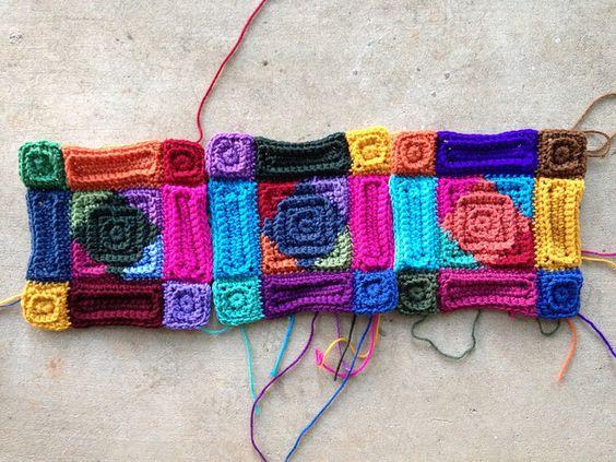 textured crochet squares, crochetbug, textured crochet afghan, textured crochet quilt, textured crochet blanket, textured crochet throw, textured crochet rectangles, jackson pollock