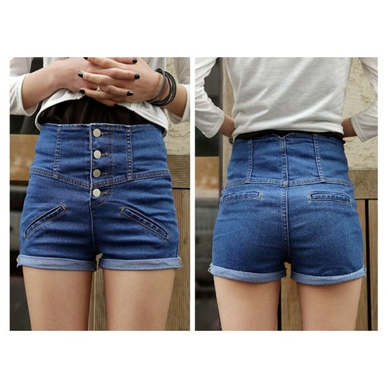 heetheadz.com high waisted blue shorts (03) #highwaistedshorts ...