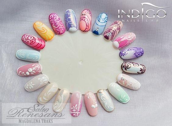 Deco Uñsd, Ongles Nailart, Ongles, Indigo Pastel, Traks Indigo, Indigo Educator, Nails Indigo, Nail Wheel, 800 590
