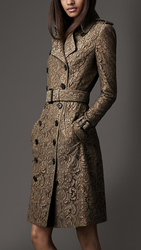 Long Lace Trench Coat | Burberry