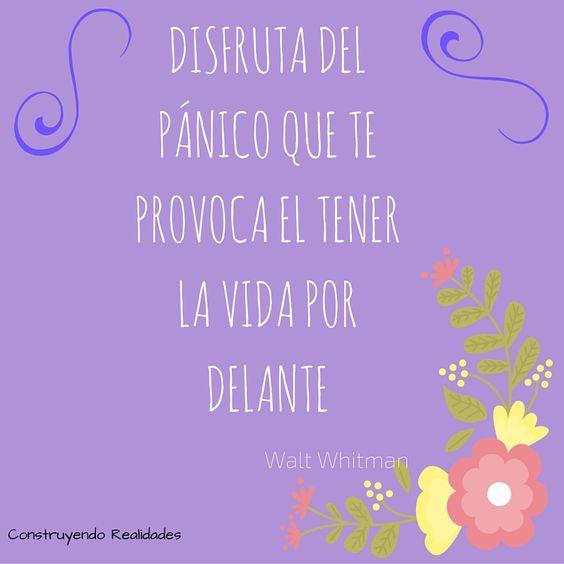 No te detengas -  Walt Whitman