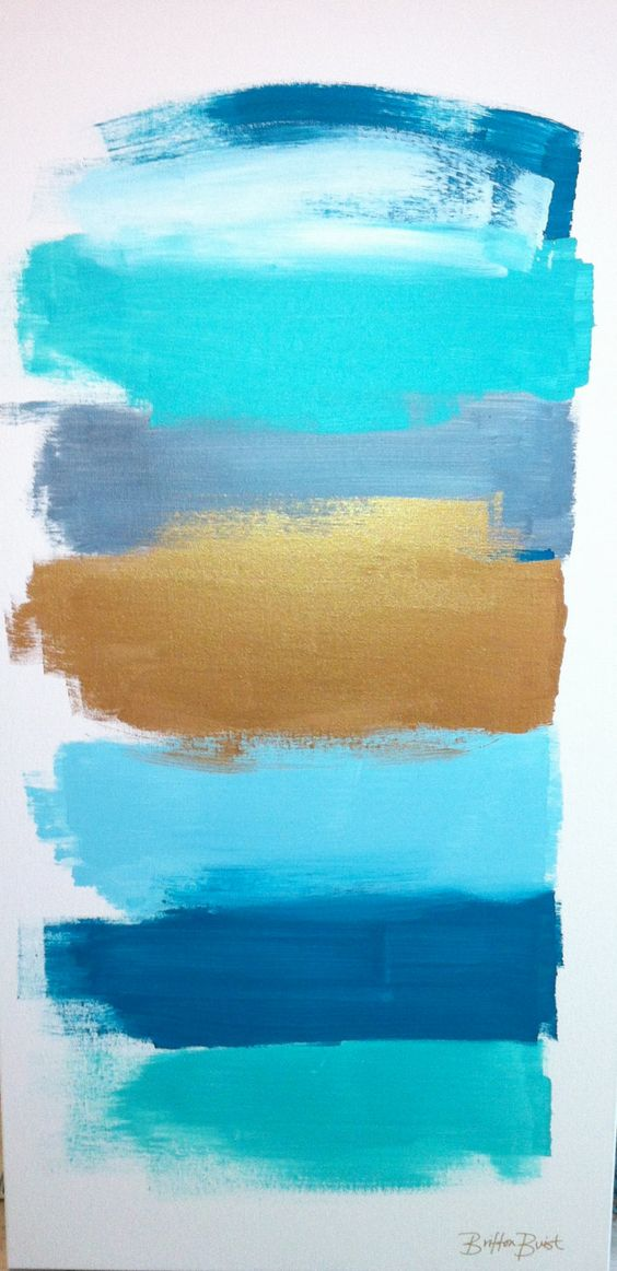 """Abstract Painting titled """"Moments"""" I think I will call it """"Abstract Sky, Water & Beach""""  #copperdustinspiration"""