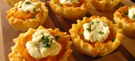 Butternut and Goat Cheese Phyllo Cups