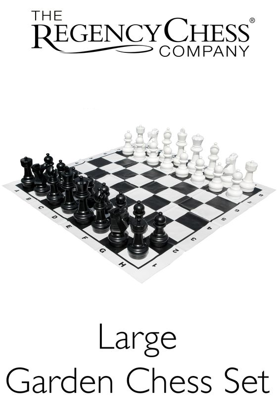 Large Edition Garden Chess Set