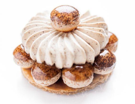 Chef Cédric Grolet: Saint-Honoré au café -- creations signed by Cédric Grolet, pastry chef at the Hotel Meurice : lexpress