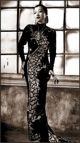 Anna May Wong, dress by Travis Banton: