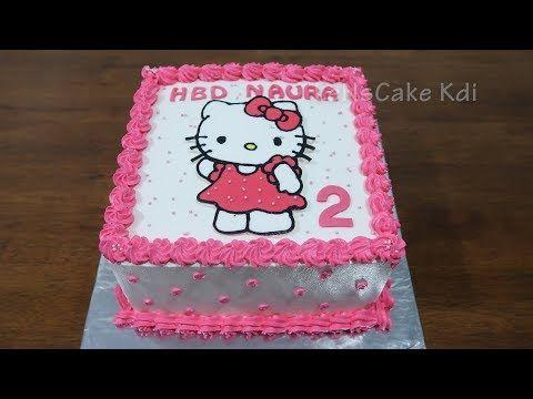 Kue Ulang Tahun Anak Perempuan Kue Ultah Karakter Hello Kitty Polkadots Cake Tart Youtube Ulang Tahun Kue Tart Kue Karakter