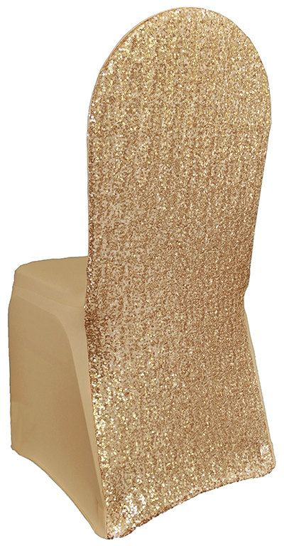2 Sequin Chair Covers Spandex Tight Fitting Chair Cover
