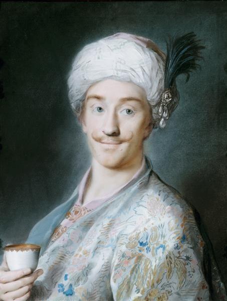 A Turk - Rosalba Carriera - 18th century, pastel drawing: