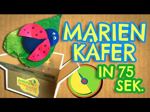 Marienkäfer in 77 Sekunden basteln Achtung , fertig, Bastelkiste - YouTube
