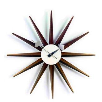 Nelson Sunburst Clock will look good w/ my Walnut Eames Hang It All
