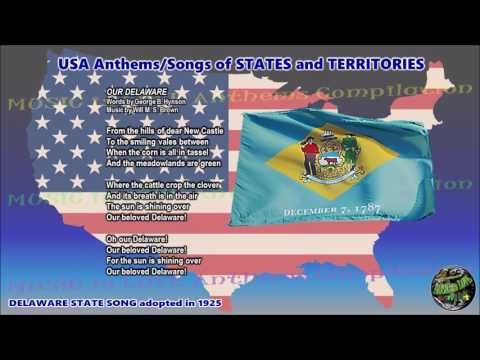 Delaware State Song Our Delaware With Vocal And Lyrics Youtube Songs Anthem Song Song Playlist