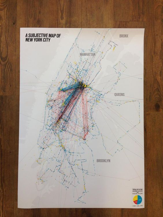 A subjective map of New York City by Vincent Meertens ...
