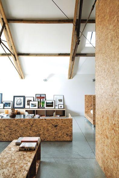osb: cool, cheap material for furniture, walls, lights, art