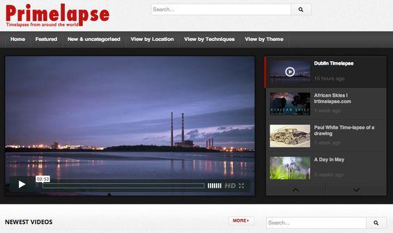 Un sitio que reúne videos hechos con fotografías en largos intervalos de tiempo