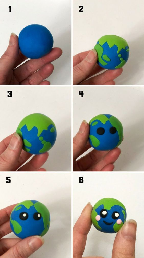 Planet Earth: Clay Craft for Earth Day...